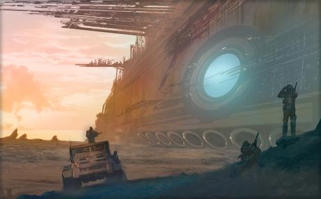 Digital sci-fi painting